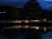 京都・長岡天満宮で夏まつり 本殿前では茅の輪くぐりも